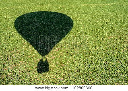 shadow of an hot air balloon
