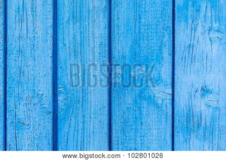 Texture Old Boards With Peeling Of Blue Color