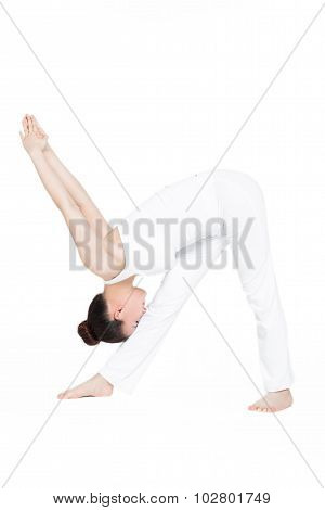 Sporty Woman In Exercises Yoga