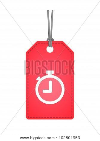 Isolated Label Icon With A Timer