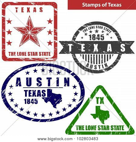 Stamps Of Texas, Usa