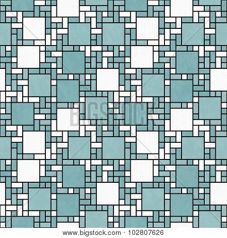 Green, White And Black Square Mosaic Abstract Geometric Design Tile Pattern Repeat Background