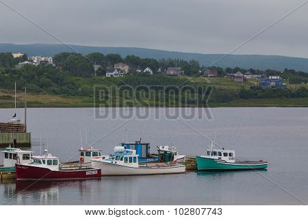 Boats At A Harbour In Inverness, Cape Breton