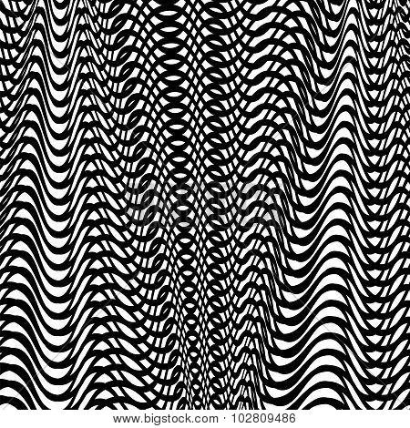 Black Wave Background
