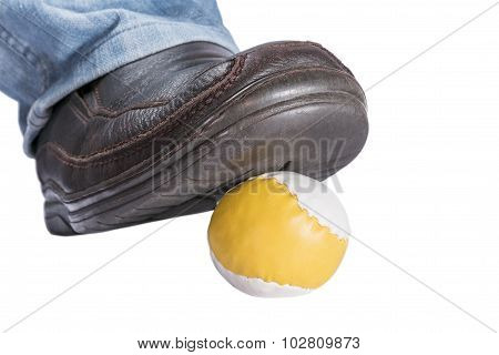 Stepped On Ball