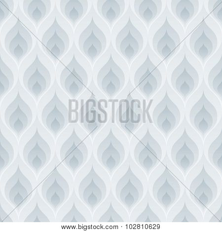 Blue flame wallpaper. 3d seamless background. Vector EPS10.
