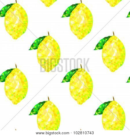 seamless pattern with lemon triangles on a white background, abstract