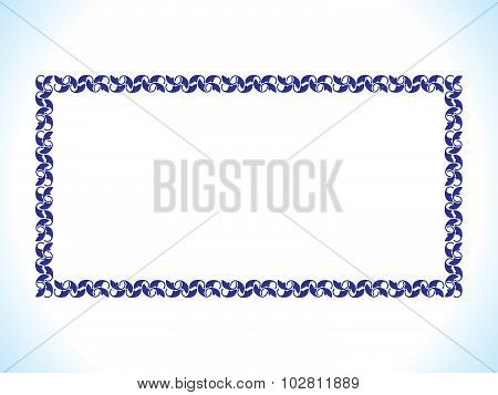 Abstract Artistic Blue Border