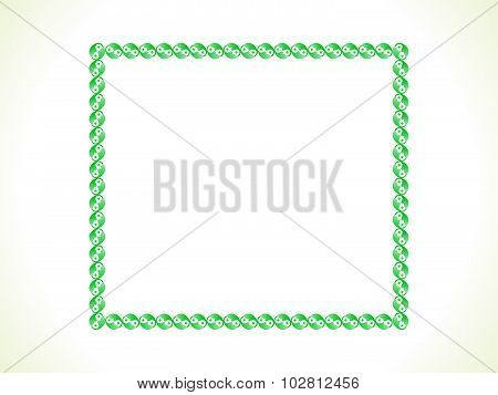 Abstract Artistic Green Border
