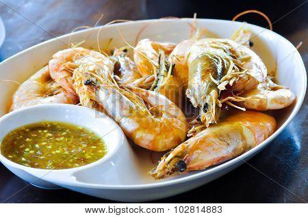 Grilled Shrimp Or Grilled Prawn