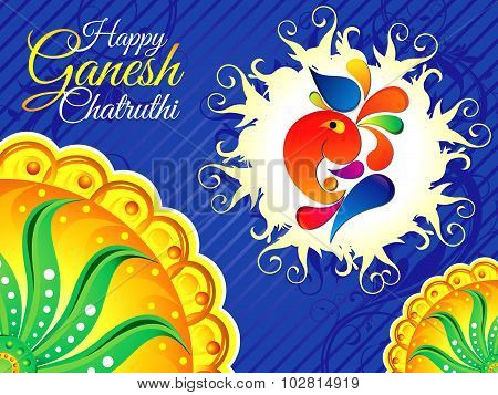 Abstract Blue Ganesh Chaturthi Background