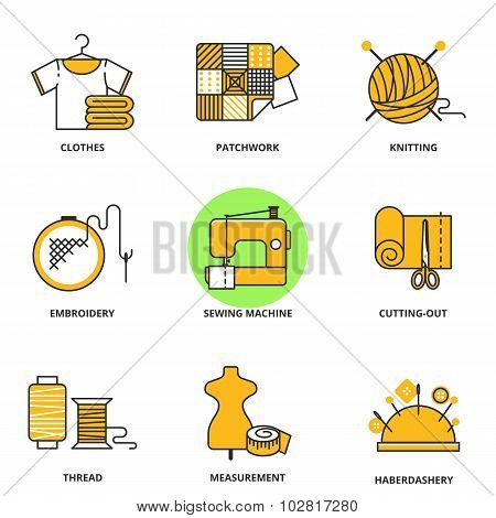 Sewing Vector Icons Set