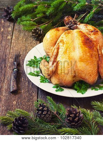 Christmas Whole Roasted Chicken