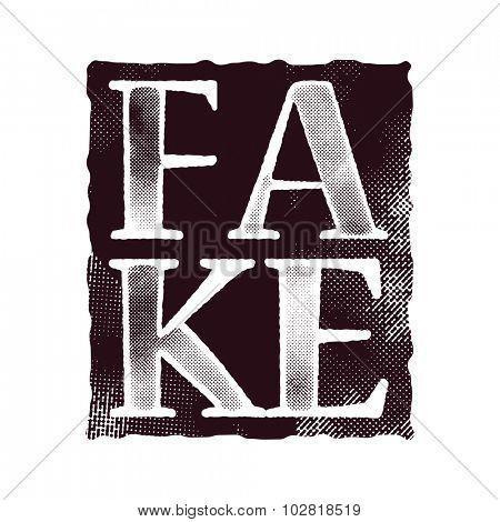 fake art concept vector background. vector illustration