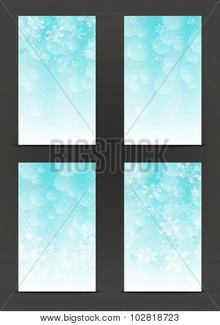 Set of 240 x 400 Christmas banners
