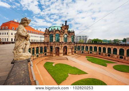 Panorama and yard of the art gallery in Dresden