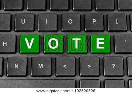 Vote Or Poll Word On Keyboard
