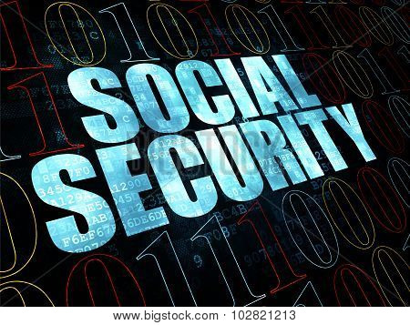 Safety concept: Social Security on Digital background