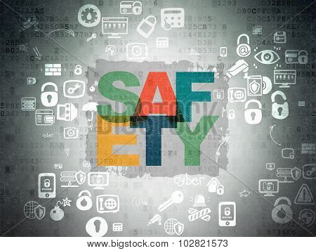 Privacy concept: Safety on Digital Paper background