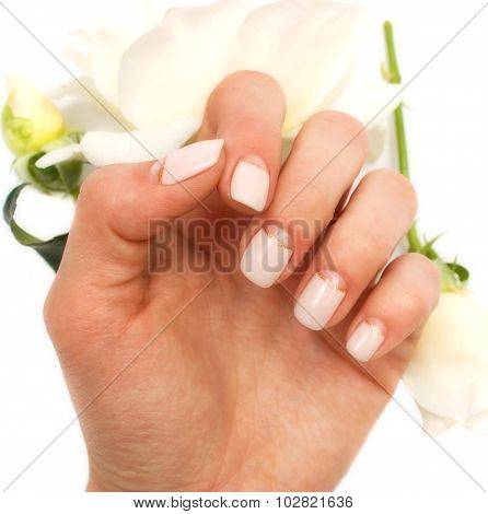Hand With Rose