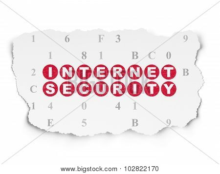 Security concept: Internet Security on Torn Paper background