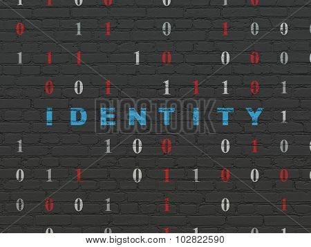 Protection concept: Identity on wall background