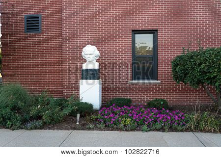 Bust and Flower Garden