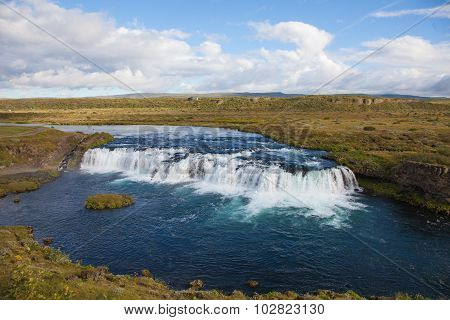 Faxi waterfall with fish ladder