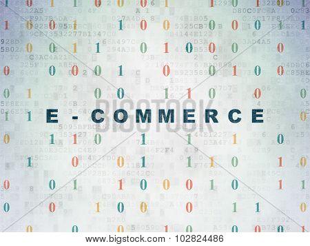 Finance concept: E-commerce on Digital Paper background