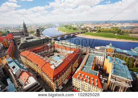 Dresden downtown panorama