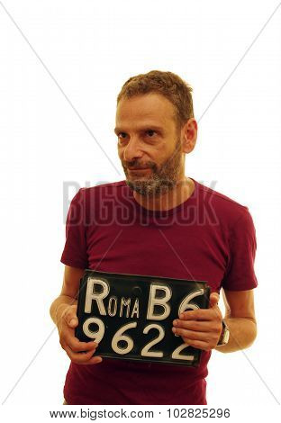 Man With Rome Car Plate