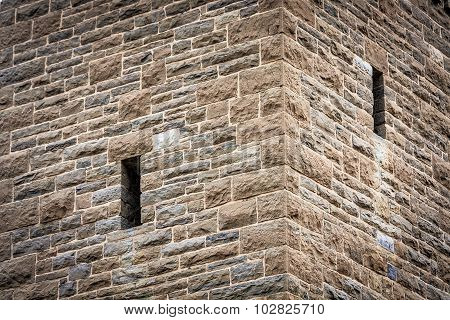 Corner Detail on Stone Observation Tower, Antietam