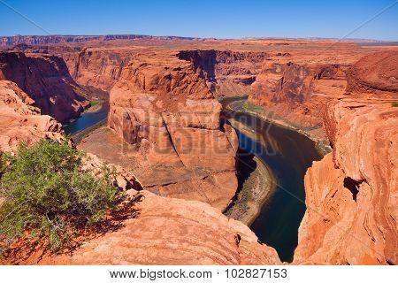 Horse shoe canyon Colorado river