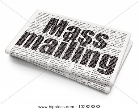 Marketing concept: Mass Mailing on Newspaper background