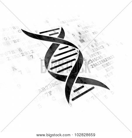 Medicine concept: DNA on Digital background