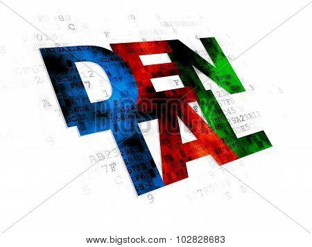 Healthcare concept: Dental on Digital background