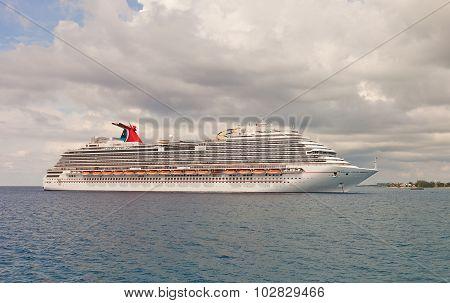 Carnival Dream Cruise Ship Near Grand Cayman