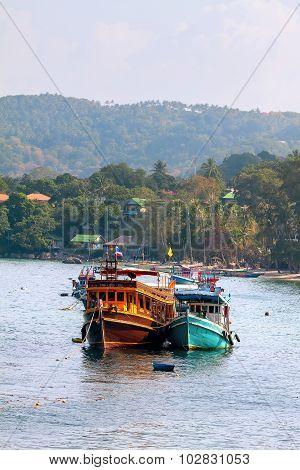 Boats At Sea Island.