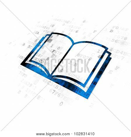 Science concept: Book on Digital background