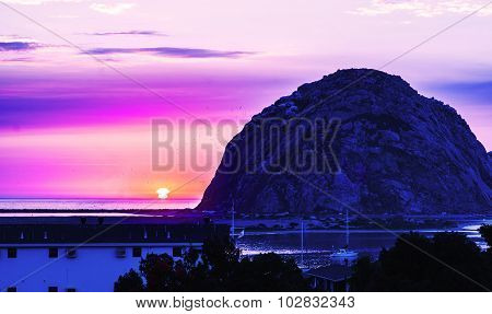 Morro Bay Rock in San Luis ObispoCalifornia