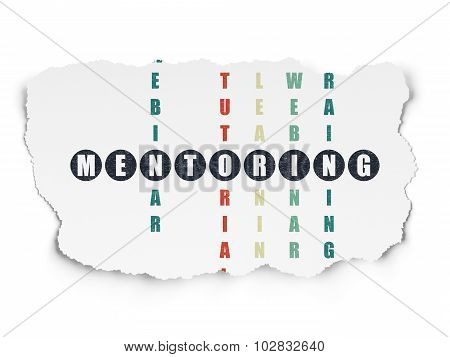 Learning concept: Mentoring in Crossword Puzzle