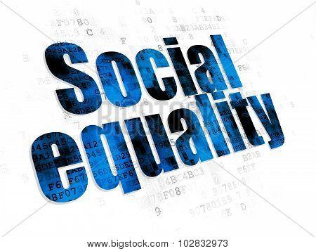 Politics concept: Social Equality on Digital background