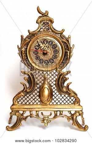 bronze clocks old-fashioned