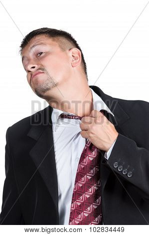 Businessman Tie Loosens