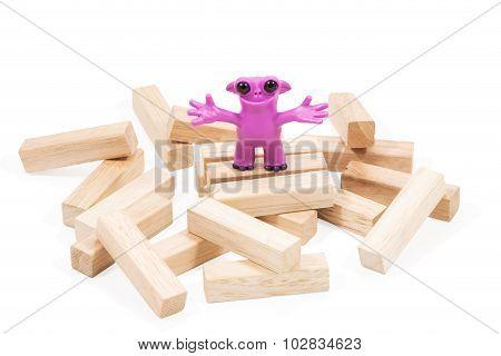 Good Pink Plasticine Monster