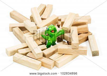 Good Green Plasticine Monster