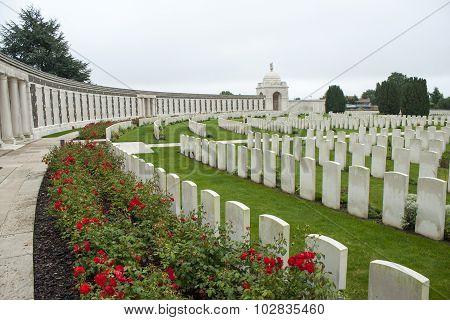 Tyne Cot Cemetery Zonnebeke Ypres Salient Battlefields Belgium