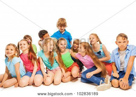 Large group of kids having fun