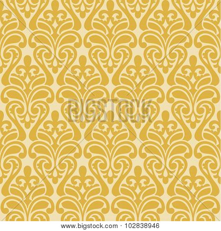 Ikat Damask Seamless Background Pattern