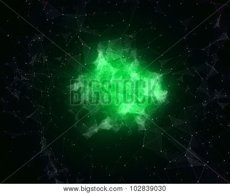 Abstract Nebula In Space